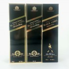 Johnnie Walker Black Label 12 Year Old x 3