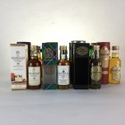 Assorted Minis x 13  Including Macallan & Dalmore 5cl