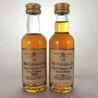 Macallan 18 Year Old Mini 1973 & 10 Year Old Mini