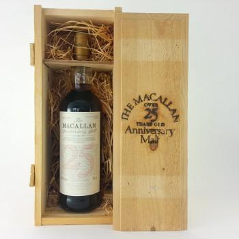Macallan over 25 year old Anniversary Malt