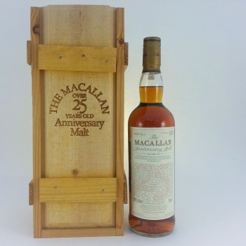 Macallan over 25 year old Anniversary Malt 1974