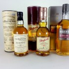 Auchentoshan & Balvenie 12 Year Old, Glenfarclas 15 Year Old 3 X 20cl