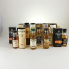 Assorted Mini Malts 15 x 5cl including HIghland Park & Bowmore