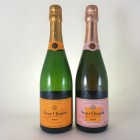 Veuve Clicquot Brut & Rose. 75cl x 2